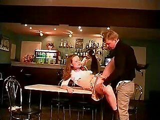 Russian Teen Fucked in a Bar