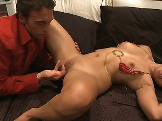 Slutty Asian moans while getting fucked..