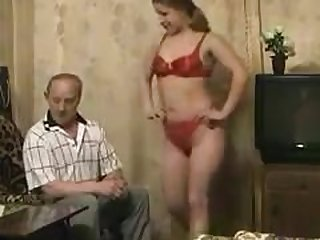 Naughty grandpa found his granddaughter..