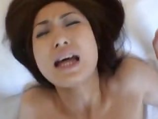 Hikaru Yuzuki has hairy pussy fingered..