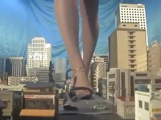 Huge japanese giantess,..