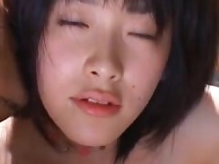 Asian babe gets horny pussy