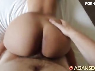 Hot Asian Teen Gets A Big Load
