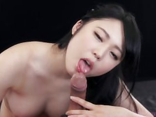 cute japanese girl gives a blowjob